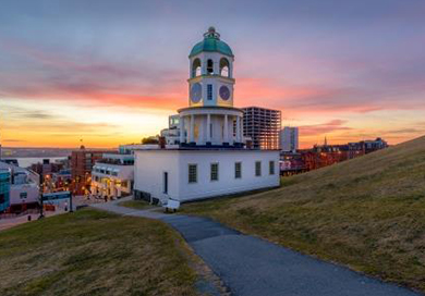 See the sunrise in Halifax